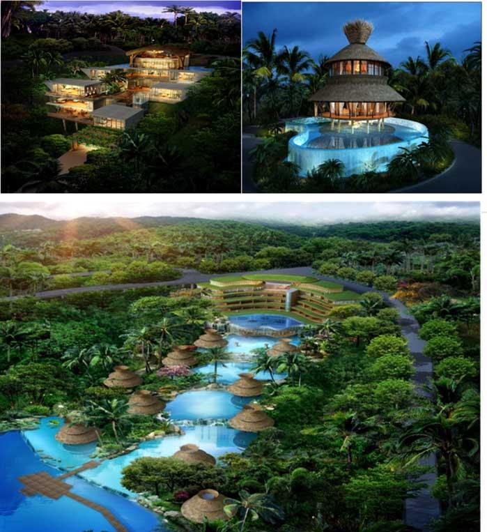 1)项目地址:那香山项目坐落于大三亚旅游经济圈的呀诺达热带雨林文化图片